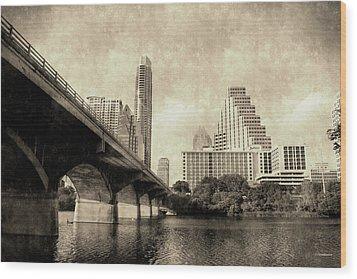 Austin Texas Vintage Wood Print