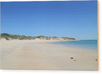 Wood Print featuring the photograph Australian Beach by Tony Mathews