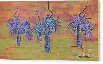 Australian Grass Trees Wood Print