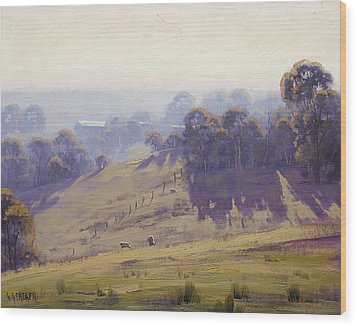 Australian Oil Painting Wood Print by Graham Gercken