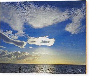 Australian Sommer Sky Wood Print
