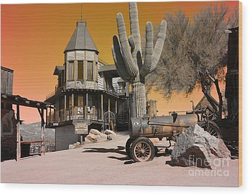 Authentic Ghost Town Wood Print by Beverly Guilliams