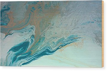 Autistic Waves Wood Print by Sonya Wilson