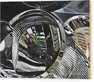 Auto Headlight 133 Wood Print by Sarah Loft