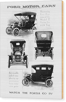 Automobile Advertisement Wood Print by Granger