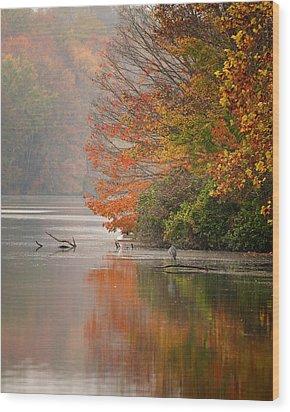 Autumn - Lake Logan Wood Print