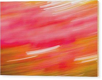 Autumn Abstract Wood Print by Shane Holsclaw