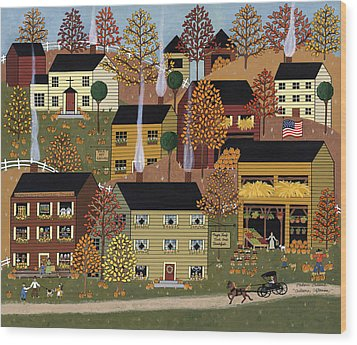 Autumn Afternoon Wood Print by Medana Gabbard