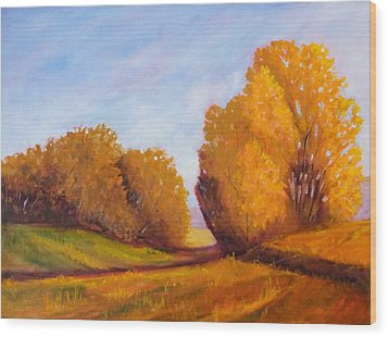 Autumn Afternoon Wood Print by Nancy Merkle