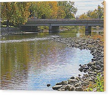 Autumn Along The Fox River Wood Print