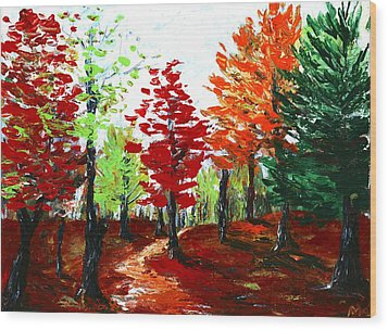 Autumn Wood Print by Anastasiya Malakhova