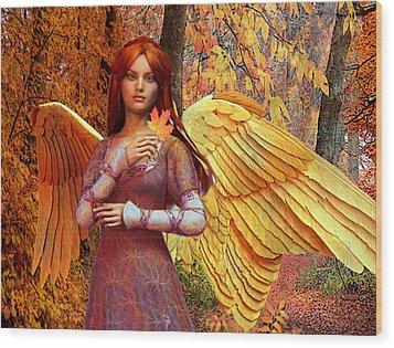 Autumn Angel 2 Wood Print