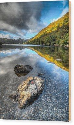Autumn At Crafnant  Wood Print by Adrian Evans