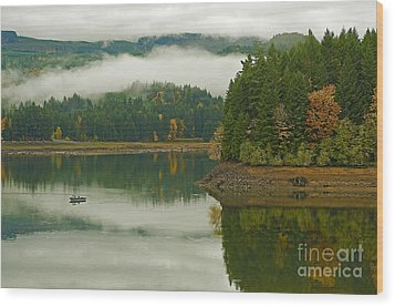 Wood Print featuring the photograph Autumn At Foster Lake by Nick  Boren