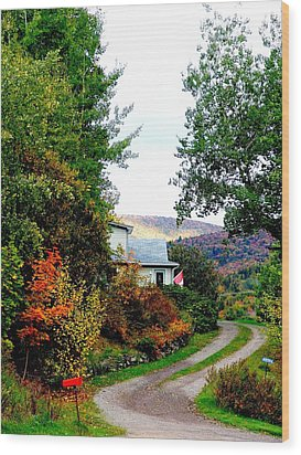 Autumn At French River Wood Print by Janet Ashworth