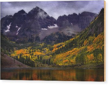 Wood Print featuring the photograph Autumn At Maroon Bells by Ellen Heaverlo