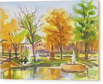 Autumn At The Villa Wood Print by Kip DeVore
