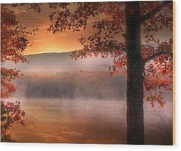 Autumn Atmosphere Wood Print by Lori Deiter
