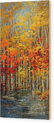 Autumn Banners Wood Print