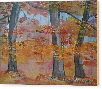 Wood Print featuring the painting Autumn Beauty by Judi Goodwin