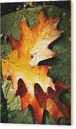 Autumn Blaze Wood Print by JAMART Photography