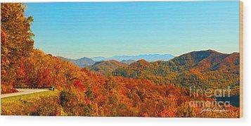 Autumn Blue Ridge Wood Print