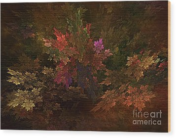 Wood Print featuring the digital art Autumn Bouquet by Olga Hamilton