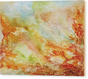 Autumn Breeze Wood Print by Rosie Brown