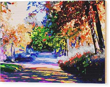 Autumn Wood Print by CHAZ Daugherty