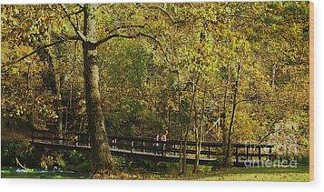 Autumn Childhood Wood Print by Julie Clements