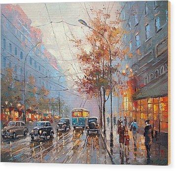 Autumn Cityscape Wood Print