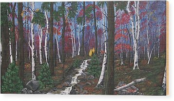 Autumn Colours Wood Print by Sharon Duguay