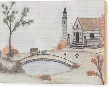 Autumn Countryside   Wood Print by Christine Corretti