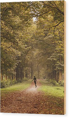 Autumn Dance Wood Print