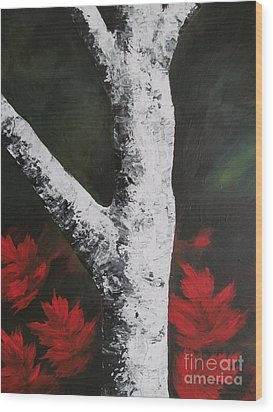 Autumn Dance Wood Print by Beverly Livingstone