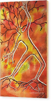 Autumn Dancing Wood Print by Leanne Seymour