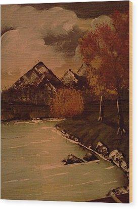 Autumn  Day  Wood Print by Renee McKnight