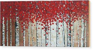 Autumn Wood Print by Denisa Laura Doltu