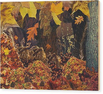 Autumn Wood Print by Denise Mazzocco