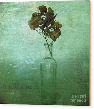 Autumn Wood Print by Elena Nosyreva