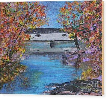 Autumn Evening Wood Print by Alys Caviness-Gober