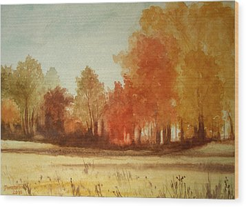 Autumn Fields New Jersey Wood Print