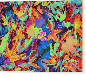 Autumn Fiesta Wood Print by Ann Johndro-Collins