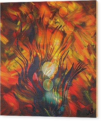 Autumn Fire By Nico Bielow Wood Print
