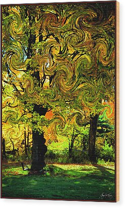 Autumn Firestorm Wood Print