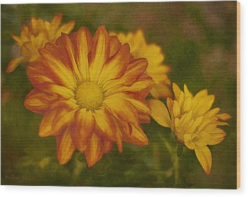 Autumn Flowers Wood Print by Ivelina G