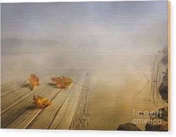Autumn Fog Wood Print by Veikko Suikkanen