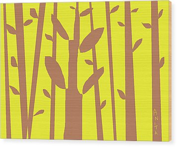 Autumn Forest Wood Print by Anita Dale Livaditis
