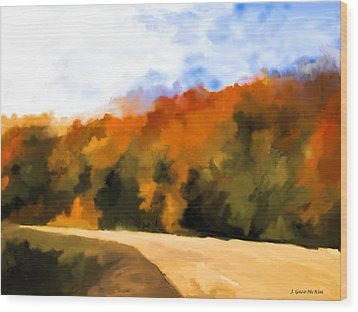 Autumn Fringe Wood Print by Jo-Anne Gazo-McKim