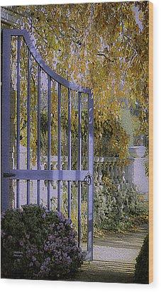 Autumn Garden Wood Print by Julie Palencia